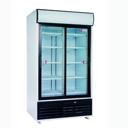 DRINK-110S/T Vitrinekast met schuifdeuren voor dranken, 875 liter