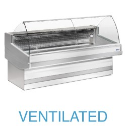 EB15/A3-VV Geventileerde gekoelde vitrinetoonbank met   gebond frontglas zonder reserve