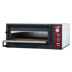 Elektrische oven 4 pizza's, 1 kamer, 980x930xh420