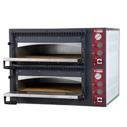 Elektrische oven 2x 4 pizza's, 2 kamers, 980x930xh750