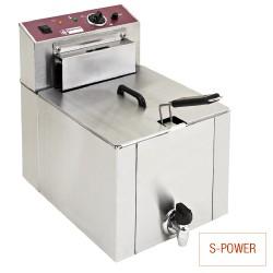 "Elektrische friteuse tafelmodel ""S-POWER"" 12 liter + kraan, 325x430xh510"