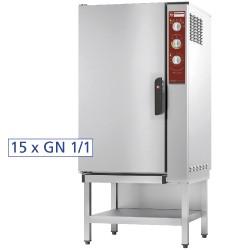 Elektrische oven, opwarmen en behouden van temperatuur 15x GN 1/1 + bevochtiger, 750x780xh1550