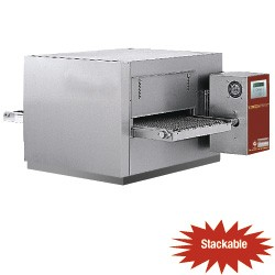 Tunnel-pizza oven geventileerd gas 25-20 pizza's Ø 350 mm, 940x1100xh520