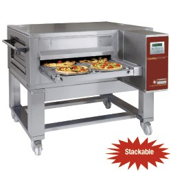 Tunnel-pizza oven geventileerd elektrisch 80-70 pizza's Ø 350 mm, 1350x2000xh490/1080
