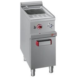 Pastakoker op gas, 1 kuip GN, inhoud van 26 liter op kast, 400x700xh850/1000