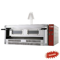 Gasoven, 9 pizza's Ø 330 mm, 1390x1300xh500+ 225