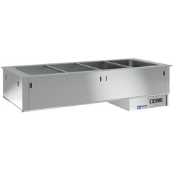 Bain-marie element 4 GN 1/1 h 200 mm, 1455x635xh270