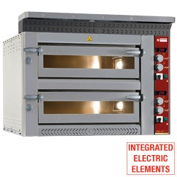 Electric pizza oven, 2x 6 pizzas Ø 350 mm, 1070x1360xh720