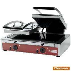 Grill panini DUBBEL model vitrokeramisch, 640x445xh245