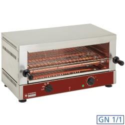 "Elektrische toaster-salamander GN 1/1, 1 verdieping (520x320), met ""Quartz"", 640x380xh330"