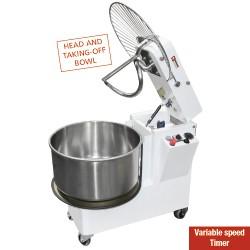 Bakkerstrog 42 Liter, kantelbare kop, verwijderbare kuip, variabele snelheden.490x860xh730