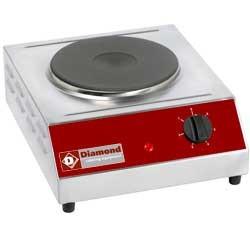 Elektrisch warmhoudplaat, tafelmodel, 1 plaat, 350x400xh155