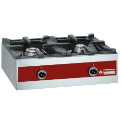 Gasbrander, tafelmodel - 2 branders (1x 5,5 kW + 1x 3,2 kW), 720x480xh260