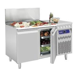 Geventileerde koeltafel met 3 deuren GN1/1, 405L. + gekoelde bovenstructuur, 1755x700(730)xh850/900