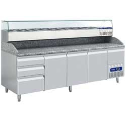 Geheel koeltafel, 2490x720xh880/940-1475