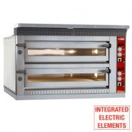 Electric pizza oven, 2x 9 pizzas Ø 350 mm, 1420x1360xh720