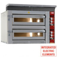 Electric pizza oven, 2x 4 pizzas Ø 350 mm, 1070x1010xh720