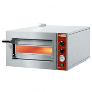Elektrische pizza-oven Ø 420 mm, kamer 420x420xh144 mm, 702x564xh385