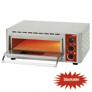 Electric pizza oven, chamber (3 kW) 430x430xh100 mm, 670x580xh270