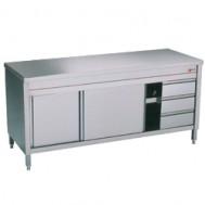 Neutrale werktafelkasten en 3 rechts laden, 2000x700xh880/900