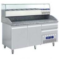 Geheel koeltafel, 1600x720xh880/940-1475