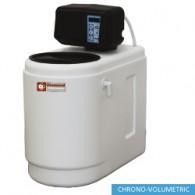 Waterontharder Chrono - en volumemeter, 5L, monoblok, 230x435xh500