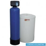 Waterontharder Chrono - en volumemeter, 50L., met uitwendige fles, 310x460xh1120