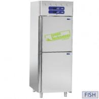 Koelkast en koelkast voor vis 2x350 liter, 2x 1/2 deuren GN 2/1 en 1/1, 750x820xh2025