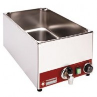 Elektrische bain-marie tafelmodel GN 1/1 - 150 mm + kraan, 330x530xh240