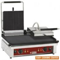 Contact-grill DUBBEL, geëmailleerde platen, 600x385xh220