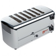 """Elektrische broodrooster, 6 sneden """"Silver"""", 455x220xh210"""