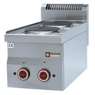 Elektrisch fornuis 2 kookplaten -Top-, 300x600xh280/400