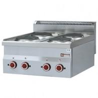 Elektrisch fornuis 4 kookplaten -Top-, 600x600xh280/400