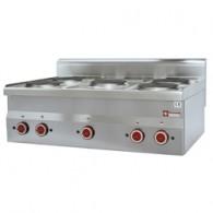Elektrisch fornuis 5 kookplaten -Top-, 900x600xh280/400