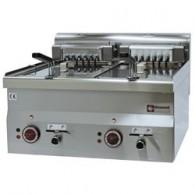 Elektrische friteuse, 2 kuipen 10 liter -Top-, 600x600xh280/400
