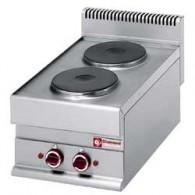 Elektrisch fornuis 2 ronde kookplaten -Top-, 400x650xh280/380