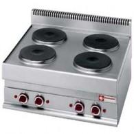 Elektrisch fornuis 4 ronde kookplaten -Top-, 700x650xh280/380