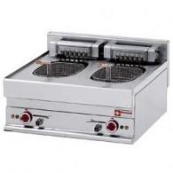 Elektrische friteuse 2 kuipen 10 liter -Top-, 700x650xh280/380