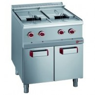 Elektrische friteuse 2 kuipen 13 liter op kast,  700x700xh850/920