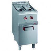 Elektrische friteuse 2 kuipen van 7 liter op kast, 400x700xh850/920