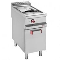 Elektrische friteuse met 1 kuip van 20 liter op gesloten kast, 400x900xh850/920