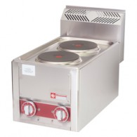 Elektrisch kookfornuis 2 platen, -Top-, 330x600xh290
