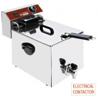 Elektrische friteuse tafelmodel 10 liter + kraan, 290x450xh375