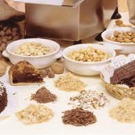 Gekorrelde schijf chocolade/droge vruchten 1,5 mm