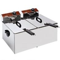 Elektrische friteuse, tafelmodel, 2x 7 liter, 560x410xh290