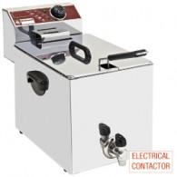Elektrische friteuse, tafelmodel, 8 liter + kraan, 290x450xh370