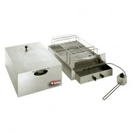 Elektrische rookkamer voor voeding, 2 verdiepingen (400x600 mm + 340x545mm), 715x415xh360