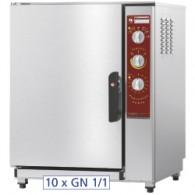 Elektrische oven, opwarmen en behouden van temperatuur 10x GN 1/1 + bevochtiger,  710x770xh940