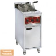 Electrische friteuse 2x 10 lit. op kast, 400x660xh980