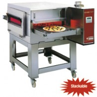 Tunnel-pizza oven geventileerd gas 40-30 pizza's Ø 350 mm, 1280x1720xh570/1110